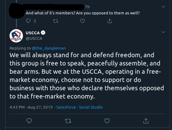 USCCA free market tweet